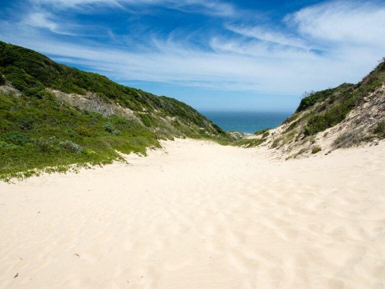 Sanddüne im Robberg Nature Reserve