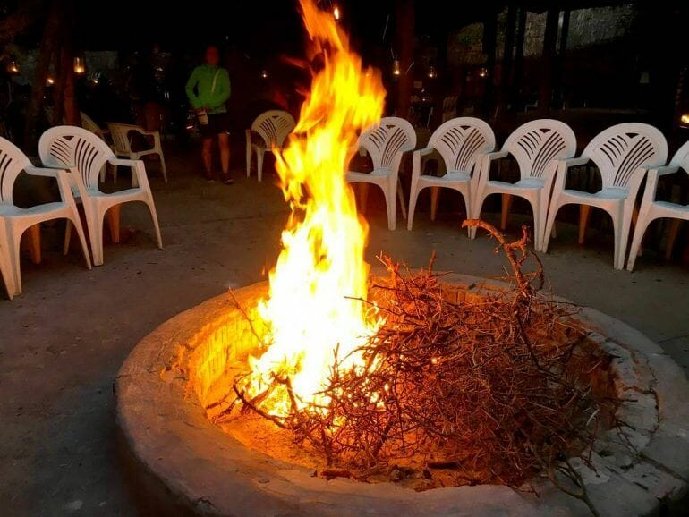 Lagerfeuer im Schotia Private Game Reserve