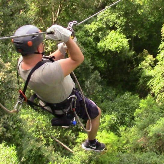 Stephan bei der Canopy Tour im Tsitsikamma Nationalpark