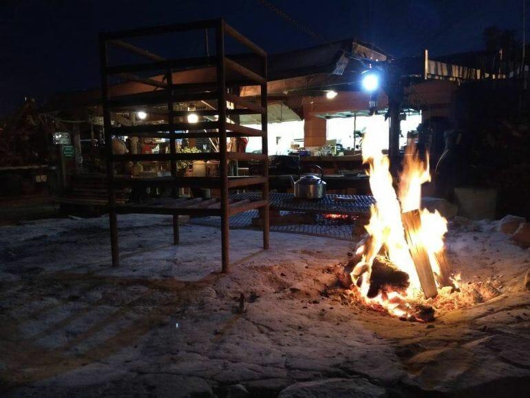 Lagerfeuer im Kaai 4 in Mossel Bay