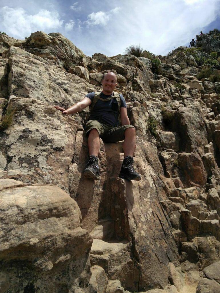 Kletterpartie am Lion's Head in Kapstadt Südafrika