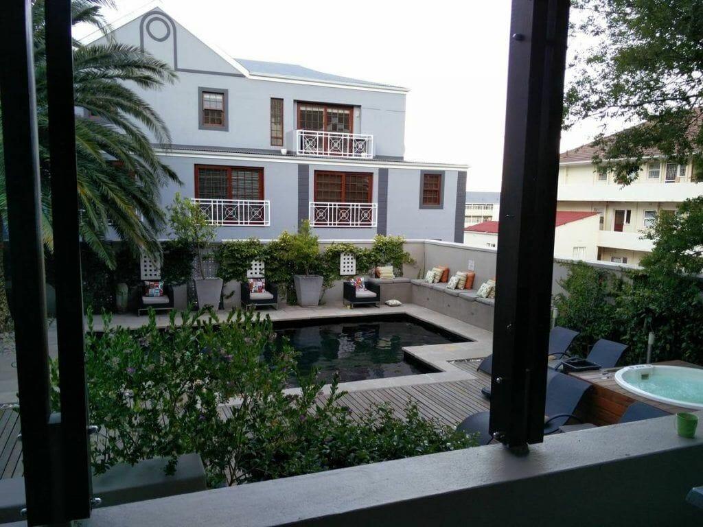 Poolbereich Derwent House in Kapstadt