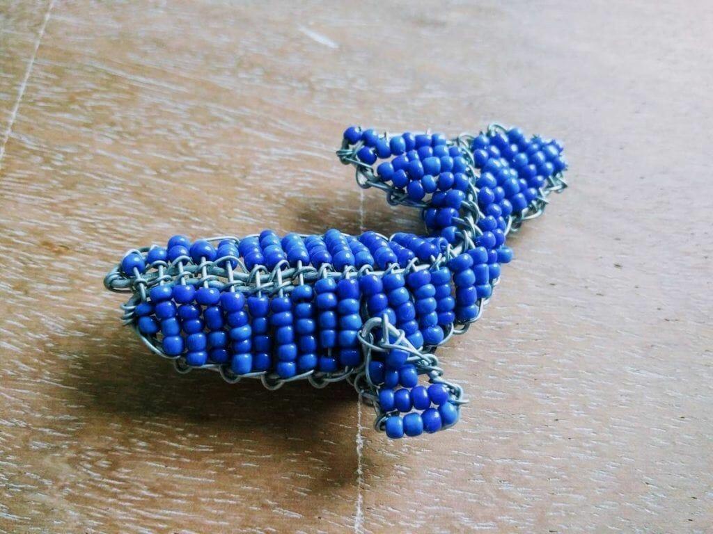 Walmagnet aus Perlen