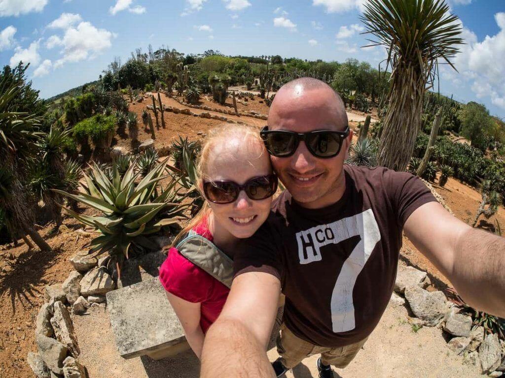 Sandra & Stephan im Botanicactus auf Mallorca