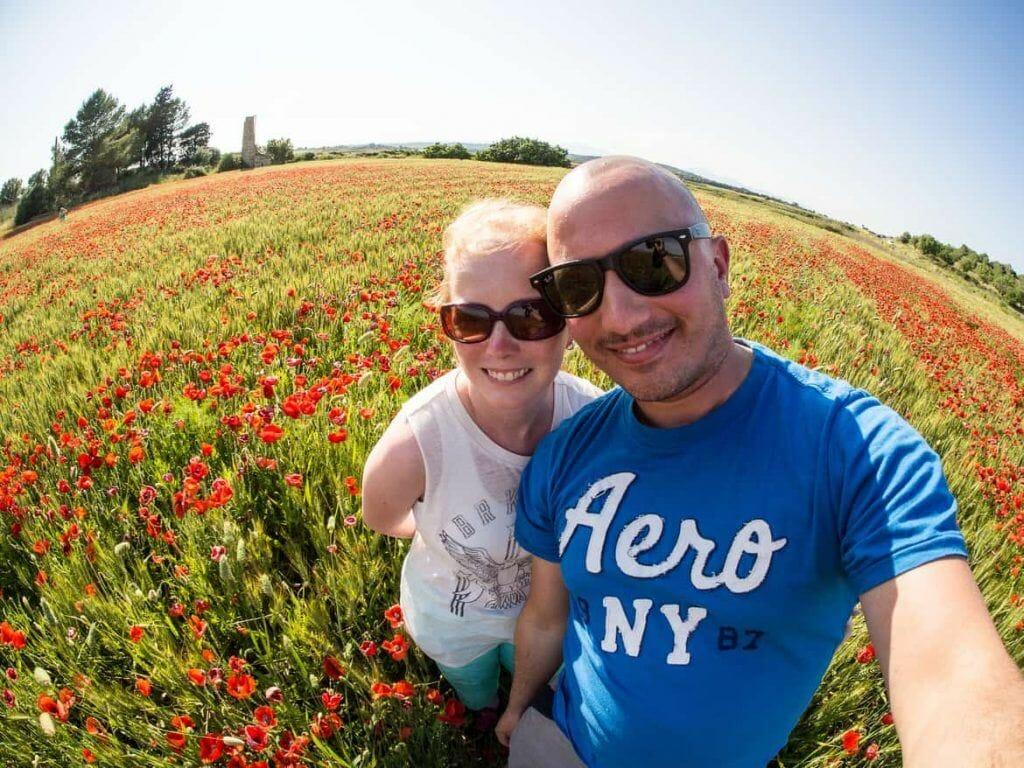 Klatschmohn-Feld auf Mallorca