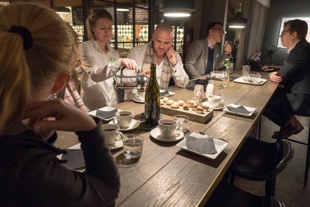 Impressionen aus dem Fotografiska Restaurantauf der Food Tour Stockholm