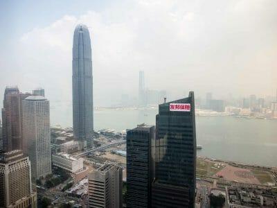 Ausblick vom Bank of China Tower in Hongkong