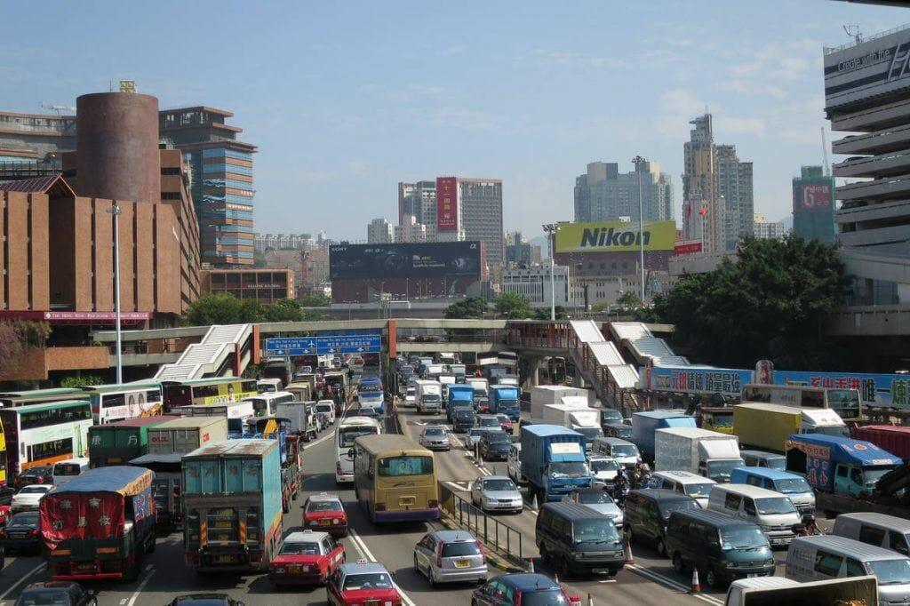 Harbour Tunnel in Hongkong