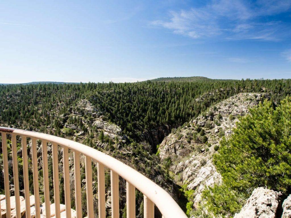 Walnut Canyon bei Flagstaff, Rim Trail