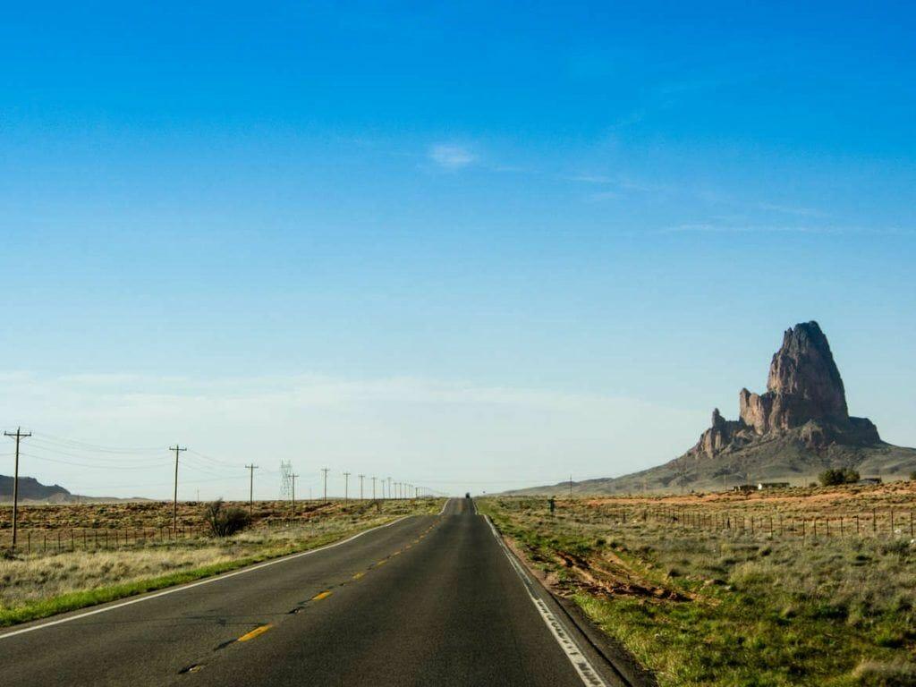 Straße Richtung Monument Valley