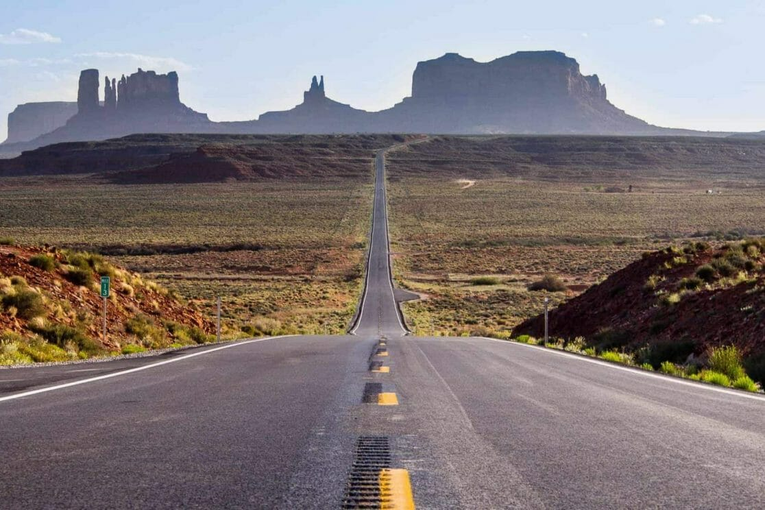 Forrest Gump Point, Blick auf Monument Valley in Arizona