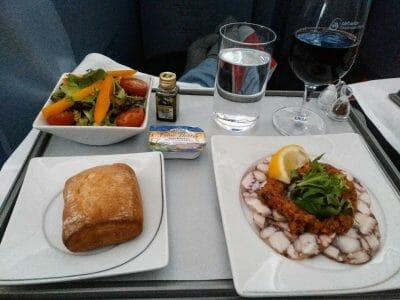 Menü AirBerlin Business Class