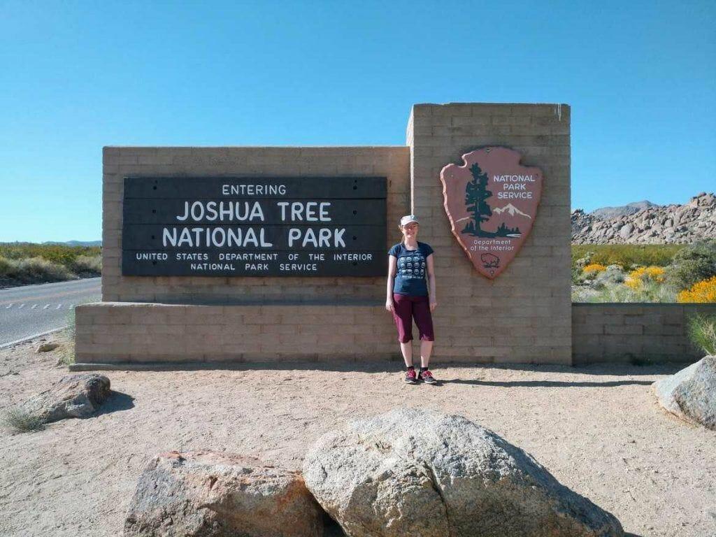Joshua Tree Nationalpark Parkeingang Schild