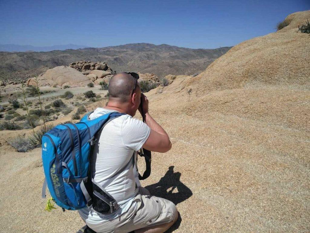 Fotografieren eines Chuckwallas im Joshua Tree Nationalpark