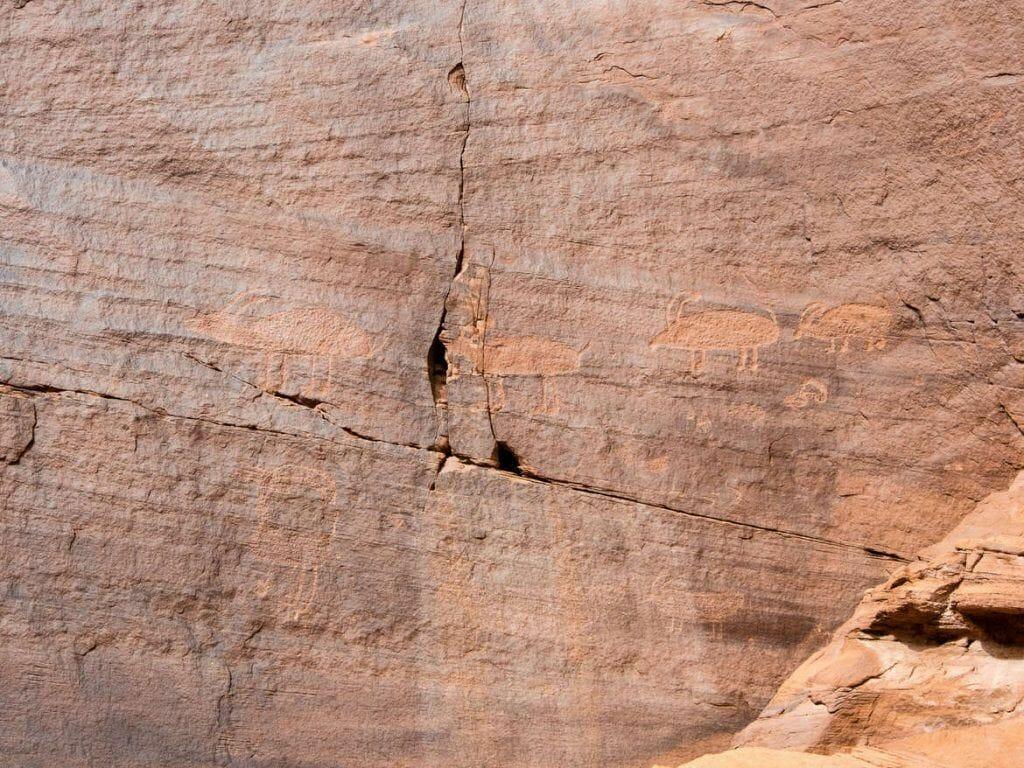 Malereien der Anasazi im Mystery Valley