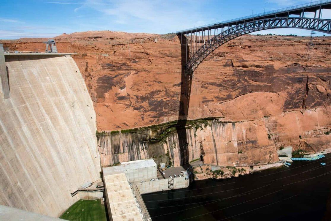 Glen Canyon Dam in Page, Arizona