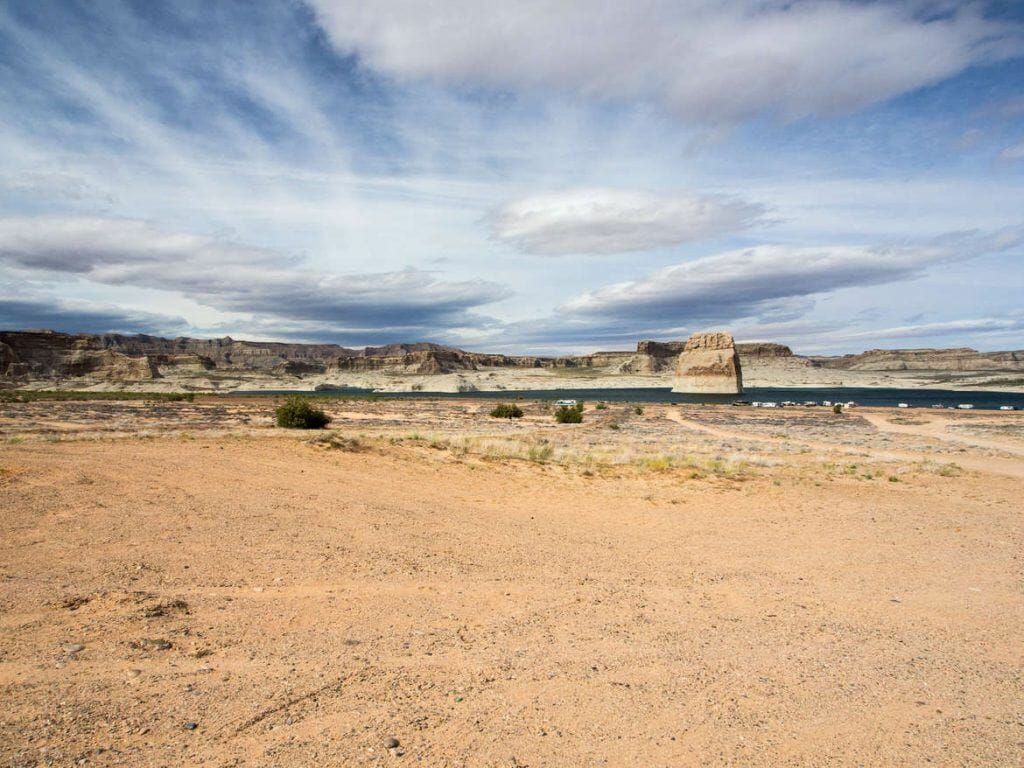 Lone Rock Beach in der Nähe von Page, Arizona