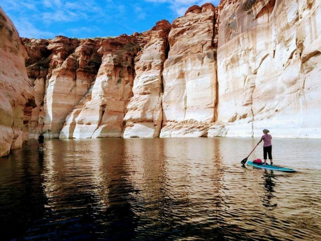 Stand Up Paddle auf dem Lake Powell in Page