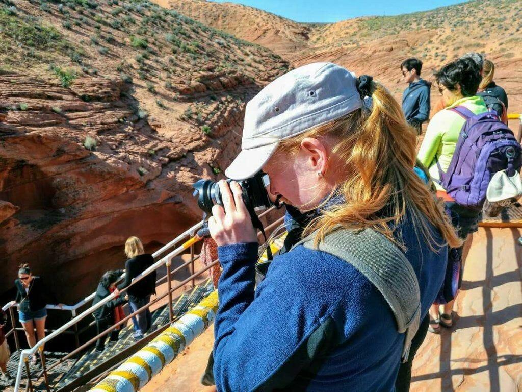Zugang zum Lower Antelope Canyon in der Nähe von Page