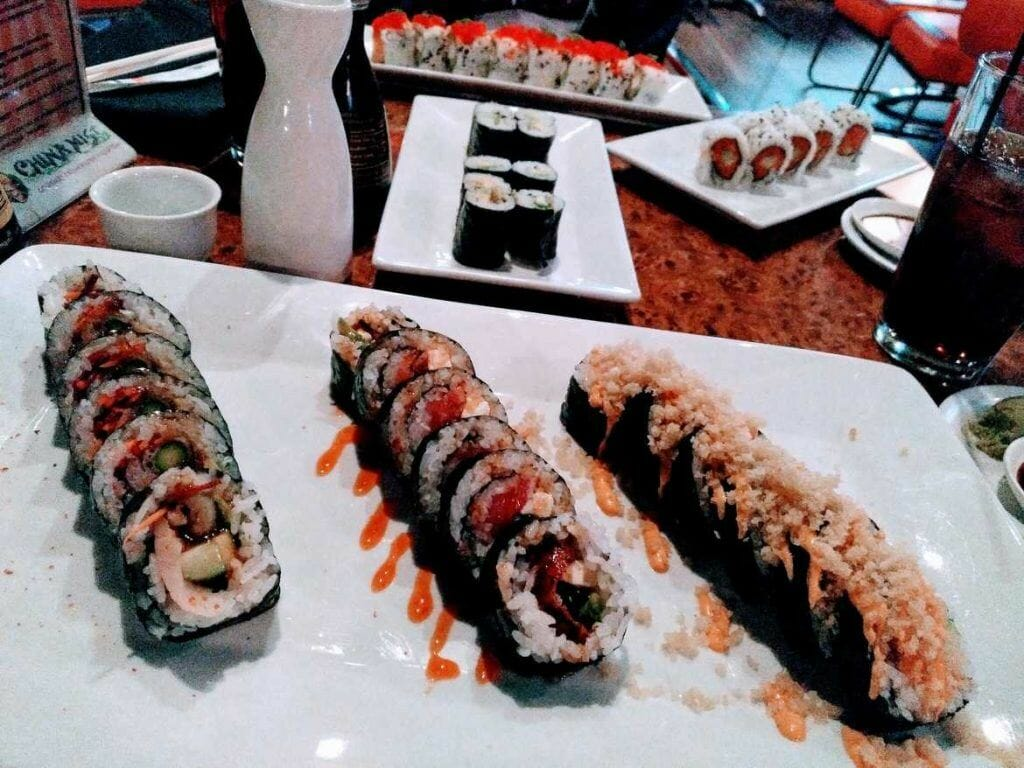 Sushi in der Blue Buddha Lounge in Page