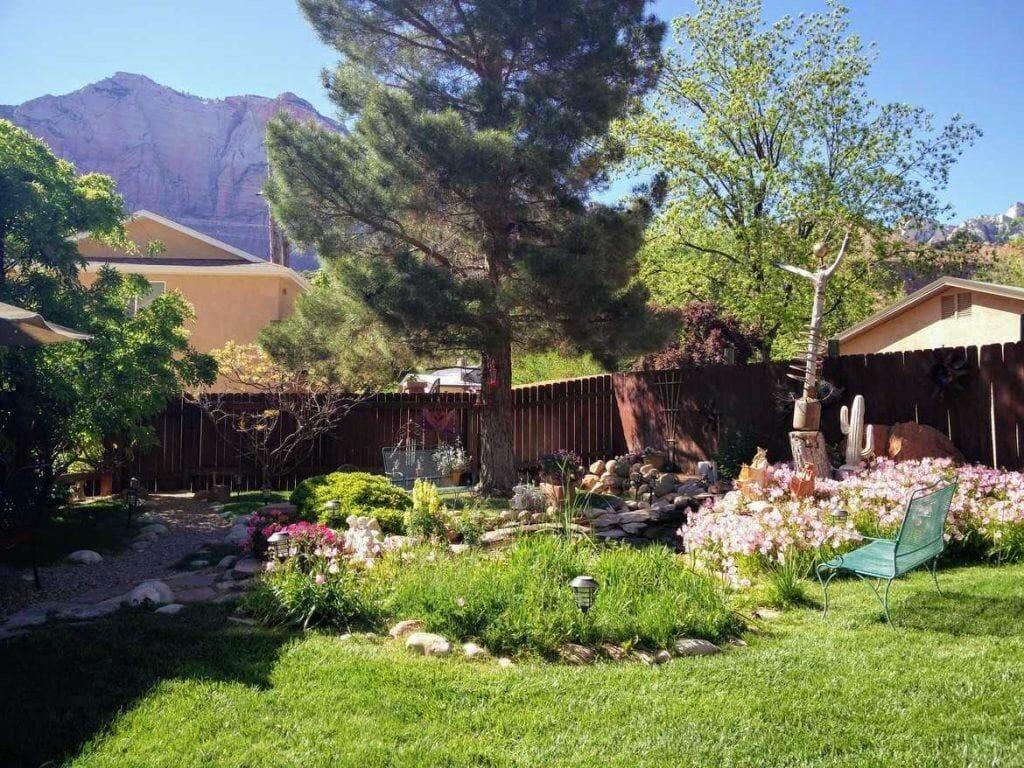 Garten der Unterkunft Harvest House in Springdale am Zion Nationalpark