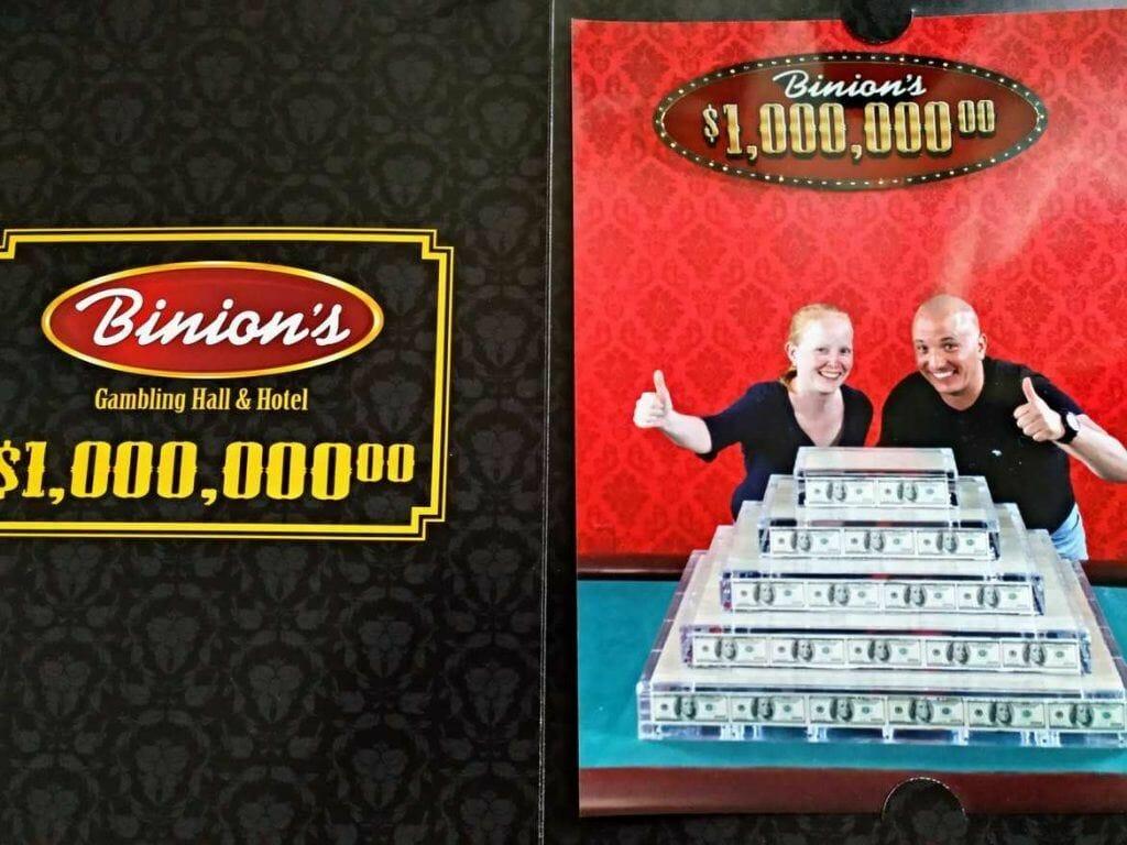Foto im Binions 1 Mio. Dollar