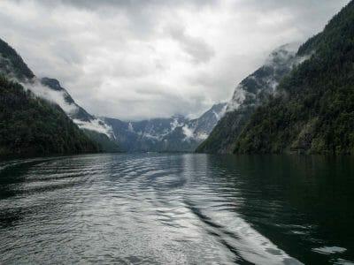 Blick über den Königssee vom Elektroboot aus