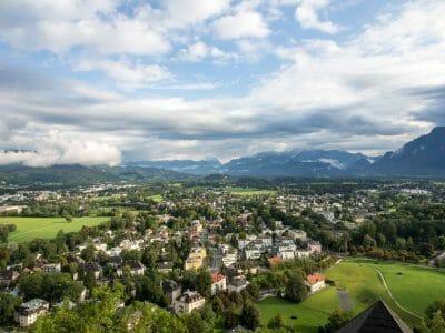 Blick über das Salzburger Land von der Festung aus fotografiert