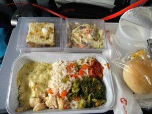 Essen von AirBerlin im Flugzeug