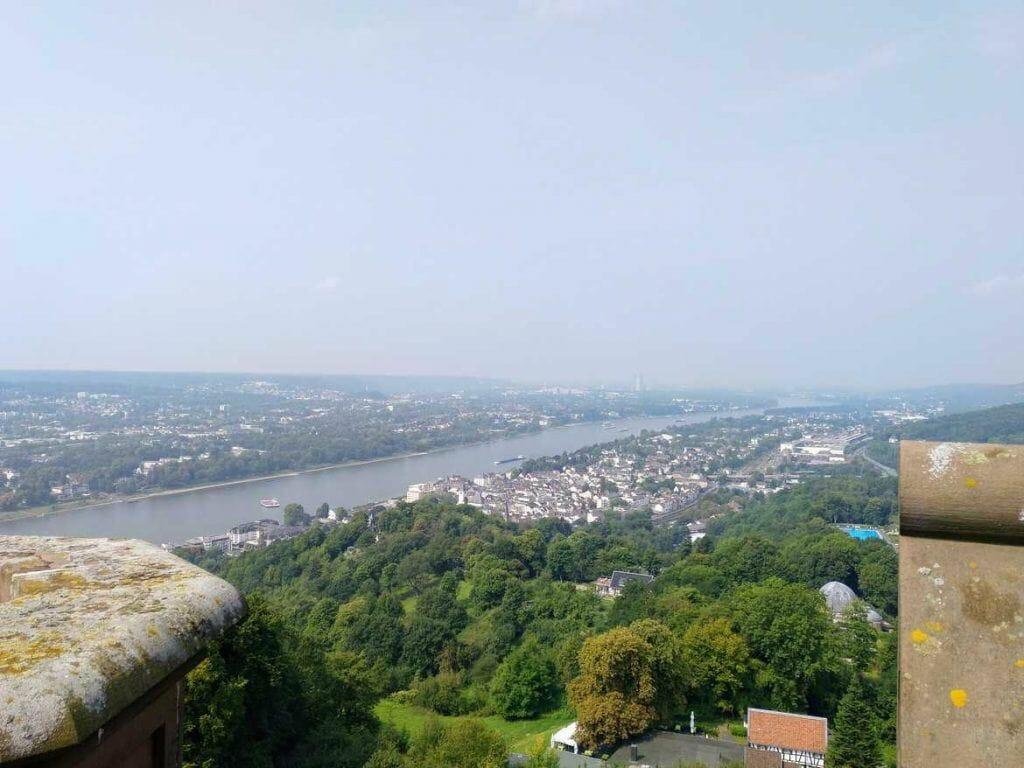 Aussicht vom Turm Schloss Drachenburg in Königswinter