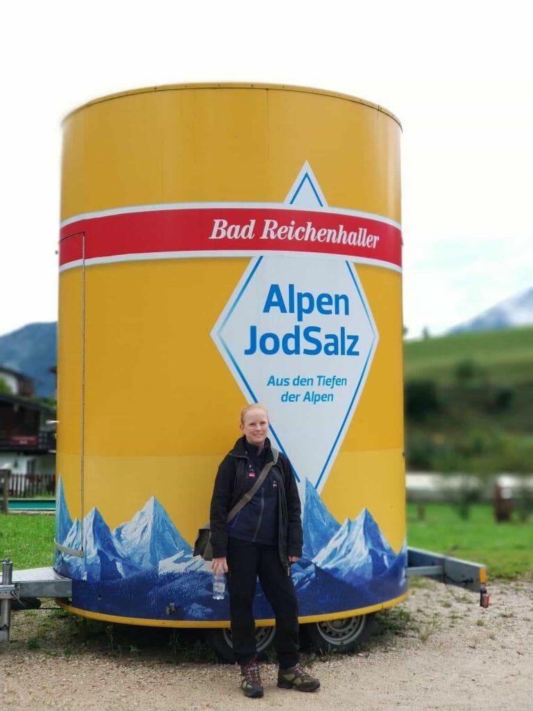 Salzstreuer Bad Reichenhaller Jodsalz am Salzbergwerk in Berchtesgaden