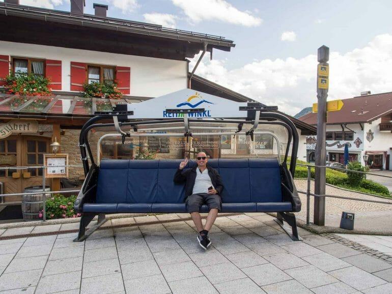 Skilift am zentralen Platz in Reit im Winkl