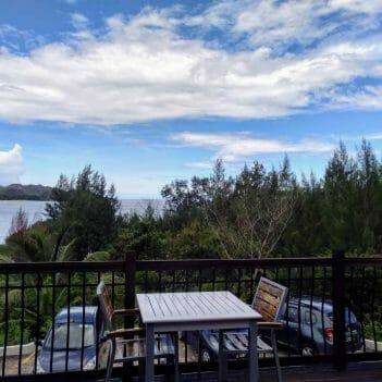 tolle Aussicht beim Pasquiere Restaurant auf Praslin Seychellen