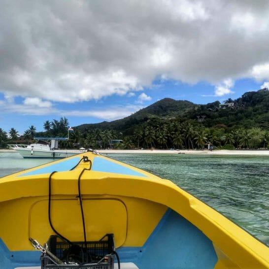 Bootsfahrt von Praslin nach Curieuse Seychellen