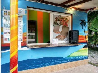 Theke Island Pizzeria auf Praslin Seychellen