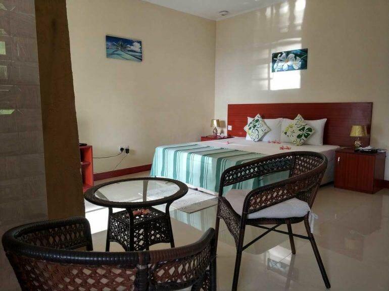 Schlafbereich Unterkunft Mahé auf den Seychellen