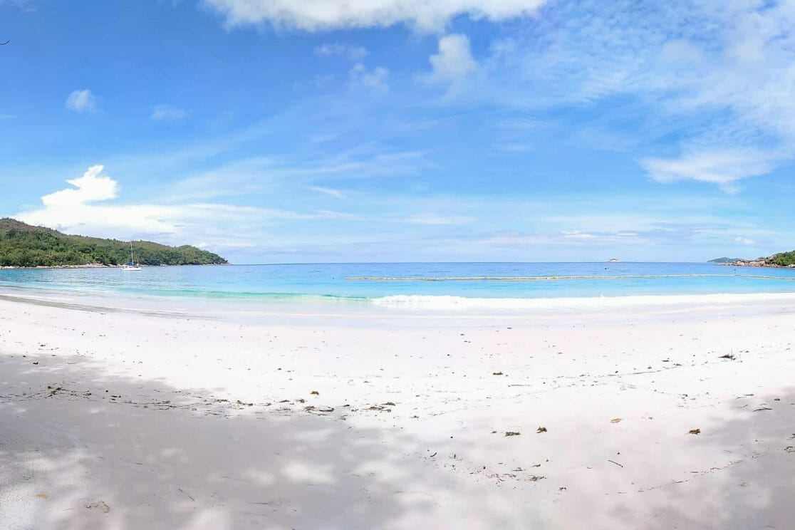 Panorama Anse Lazio auf Praslin Seychellen