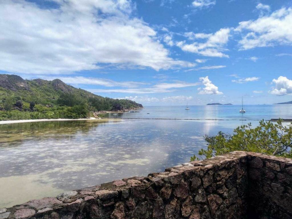Aussichtspunkt auf Curieuse Seychellen