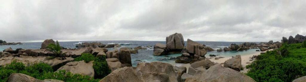 Panorama Wanderung auf La Digue Seychellen