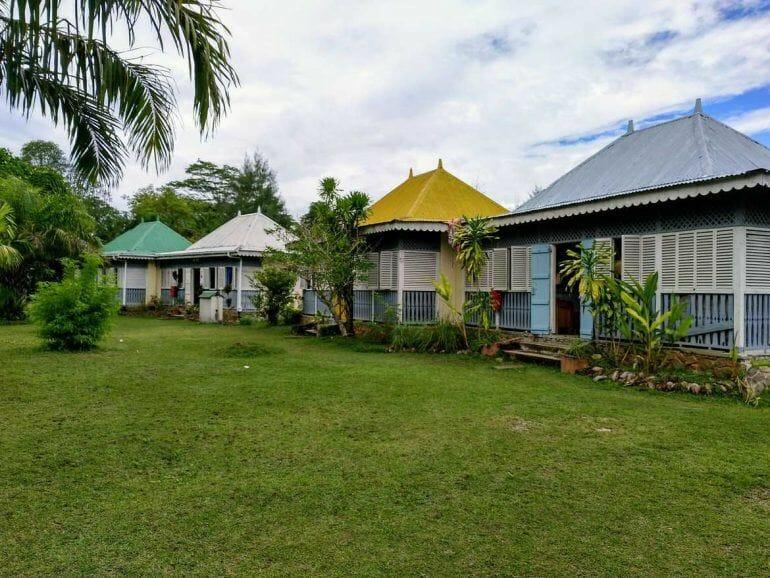 Häuschen im Craft Village auf Mahe Seychellen