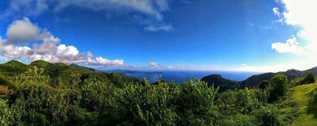 Panorama über Mahe von der Mission Lodge aus Seychellen