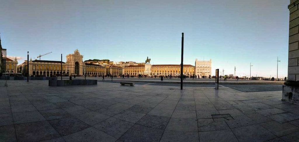 Praca do Comercio in Lissabon Portugal
