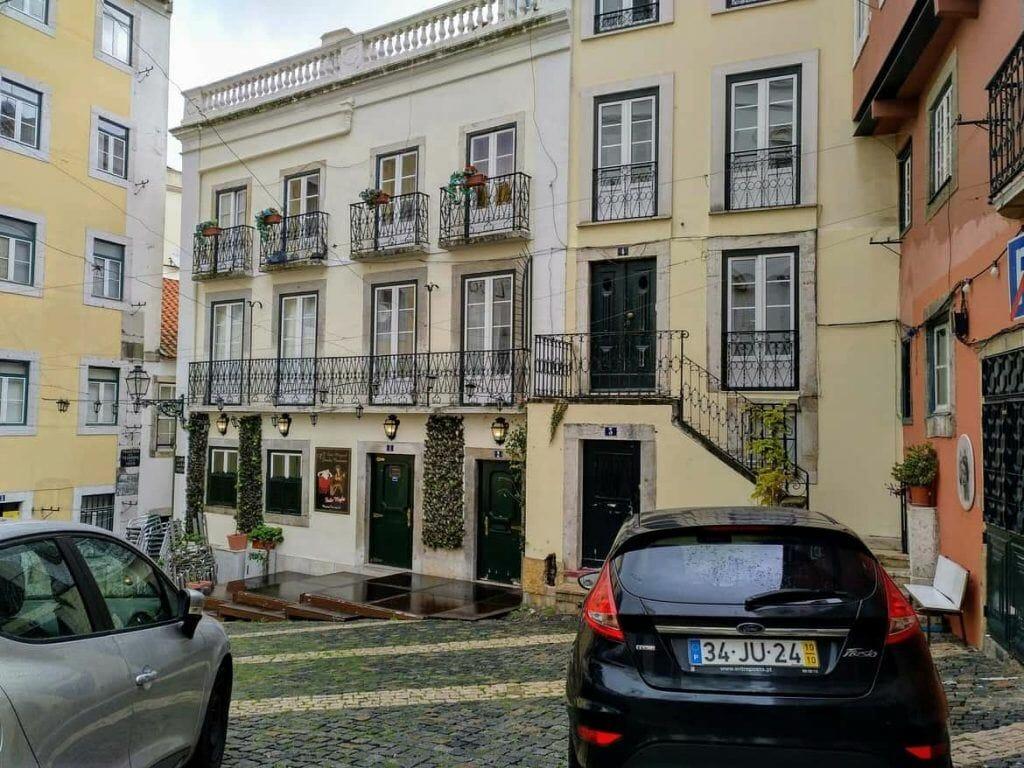 Stadtteil Alfama in Lissabon Portugal