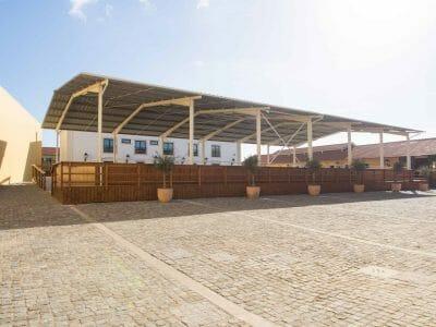 Offene Reithalle der Hofreitschule in Belem Lissabon Portugal