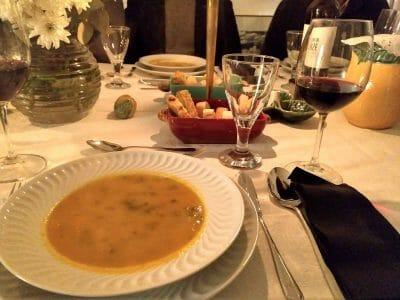 Suppe beim Secret Supper Club in Lissabon Portugal