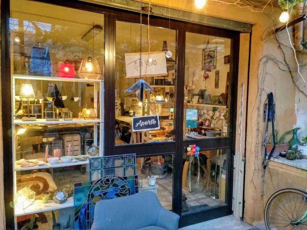 Di Vitro Glasgeschäft in Rom Italien