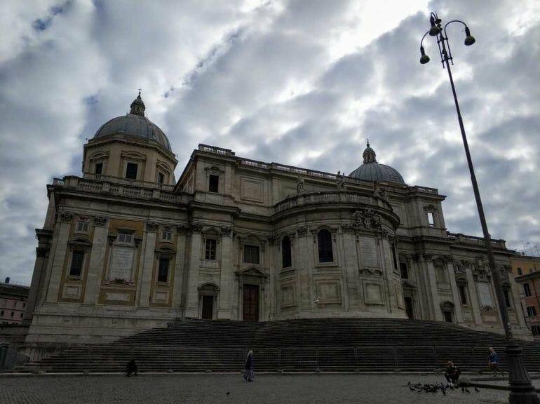 Außen Basilica Papale di Santa Maria Maggiore in Rom Italien