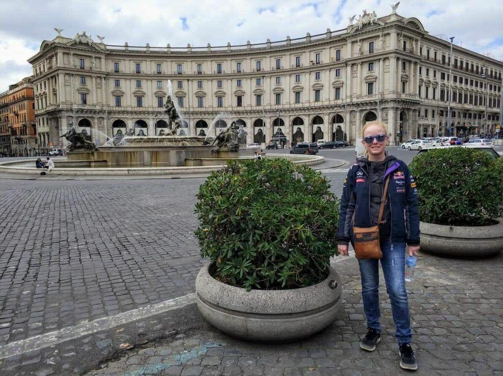 Piazza della Repubblica in Rom Italien