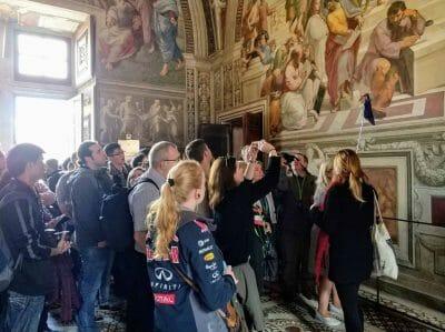 Wandmalereien im Vatikanischen Museum in Rom Italien Vatikan