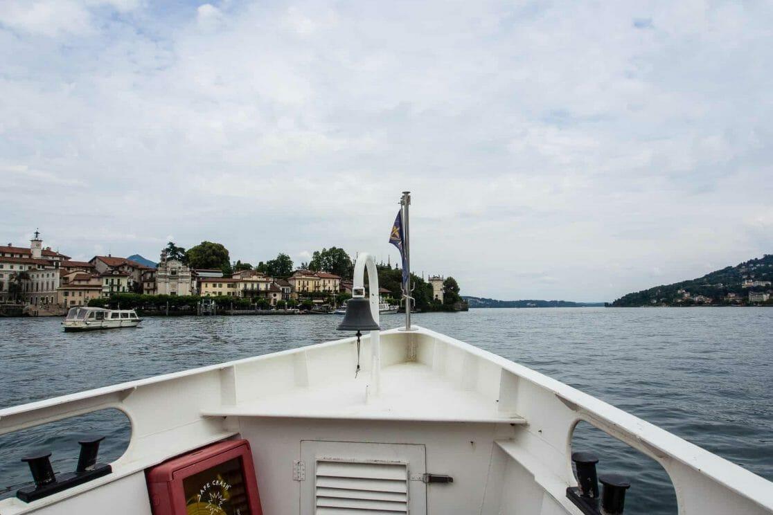 Fähre zur Isola Bella am Lago Maggiore in Italien